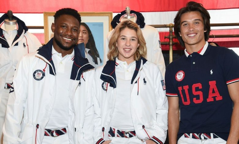 """Photo of צוות ארה""""ב הוצג לטקס האולימפי"""