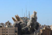 Photo of בניין רב עזה בבניין שיכון משרדי מדיה שנהרסו על ידי התקפה אווירית ישראלית חדשות CBC